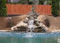 water feature at pool Setauket